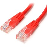 StarTech.com 6 ft Red Molded Cat5e UTP Patch Cable - Category 5e - 6 ft - 1 x RJ-45 Male - 1 x RJ-45 Male - Red