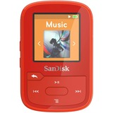 "SanDisk Clip Sport Plus 16 GB Flash MP3 Player - Red - FM Tuner - 1.4"" - Bluetooth - WMA, AAC, MP3, WAV, FLAC - 20 Hour"