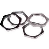 AXIS 3/4inConduit Locknut A - Locknut - Silver - 4 Piece