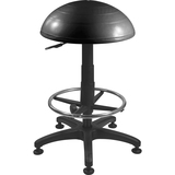 "Evolution Chair Hemisphere Stool w/ Footrest - 5-star Base - Black - 31"" Height"