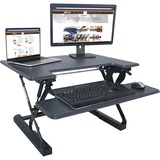 "Victor High Rise Height Adjustable Standing Desk with Keyboard Tray (31"" , Gray)"