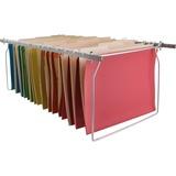 Business Source Premium File Folder Frames - Letter - Metal - Stainless Steel - 6 / Box