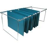 Business Source Premium File Folder Frames - Legal - Metal - Stainless Steel - 6 / Box