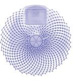 Genuine Joe Eclipse Anti-Splash Deodorizing Urinal Screen - Ocean Breeze - Anti-splash - 12 / Dozen - Blue