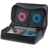 Verbatim CD/DVD Storage Wallet 128 ct. Black - Wallet - Black - 128 CD/DVD