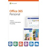 Microsoft Office 365 2019 Personal - Subscription - 1 User, 1 PC/Mac - 1 Year - Medialess, Product Key Card (PKC) - English