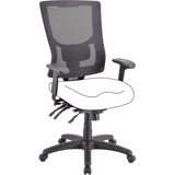 Lorell Conjure Executive High-back Mesh Back Chair Frame - Black - Bonded Leather - 1 Each