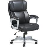 "Sadie 3-Fifteen Executive Leather Chair - Plush Black, Bonded Leather Seat - Plush Black, Bonded Leather Back - 5-star Base - 19.3"" Seat Width x 18.8"" Seat Depth - 28.3"" Width x 30.8"" Depth x 47.8"" Height"