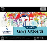 "Canson Plein Air Canva Art Board Pad - 10 Sheets - 20 Pages - Glued - 9"" x 12"" - Textured, Acid-free, Rigid - 1Each"