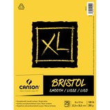 """Canson XL Bristol - 25 Pages - 100 lb Basis Weight - 260 g/m² Grammage - 9"""" x 12"""" - Micro Perforated, Removable, Smooth, Heavyweight, Erasable, Acid-free - 1Each"""