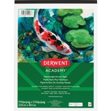 """Derwent Academy Heavyweight Acrylic Paper Pad - 24 Sheets - 100 lb Basis Weight - 9"""" x 12"""" - 12"""" (304.80 mm) x 9"""" (228.60 mm)0.25"""" (6.35 mm) - Acid-free, Removable, Heavyweight, Textured - 1"""