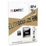 EMTEC Gold+ 64 GB Class 10/UHS-I (U1) microSDXC - 85 MB/s Read - 21 MB/s Write - 1 Year Warranty