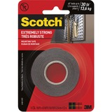 "Scotch Extreme Mounting Tape, 1 in X 60 in, Black - 1"" (25.4 mm) Width x 5 ft (1.5 m) Length - Acrylic Foam - Double-sided, Strong, Self-adhesive - 1 Each - Black"
