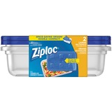 Ziploc® Brand Containers Large Rectangle 2/pkg - 2.12 L Food Container - Dishwasher Safe - Microwave Safe - 2 Piece(s) / Pack