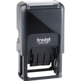 """Trodat PAID Text Window Self-inking Dater - """"PAID"""" - Blue, Red - 1 Each"""
