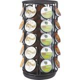 "Mind Reader 35-pod Coffee Carousel - 35 x Coffee Pod - 12.3"" Height x 6.1"" Width - Black - 1Each"