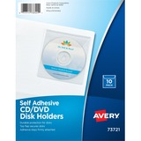 Avery® Self-Adhesive CD/DVD/Zip Pockets, 10 Pockets (73721)