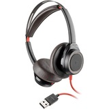 Plantronics Blackwire 7225 Headset - Stereo - USB Type A - Wired - 32 Ohm - 20 Hz - 20 kHz - Over-the-head - Binaural - Supra-aural - Noise Cancelling, Omni-directional Microphone - Noise Canceling - Black