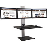 Victor High Rise Electric Triple Monitor Standing Desk