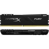 HyperX Fury 16GB DDR4 SDRAM Memory Module - For Desktop PC - 16 GB (2 x 8 GB) - DDR4-2400/PC4-19200 DDR4 SDRAM - CL15 - 1.20 V - Unbuffered - 288-pin - DIMM