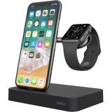 Belkin Valet Charge Dock for Apple Watch + iPhone - Docking/Wireless - Apple Watch, iPhone - Charging Capability - Lightning - Silver, Chrome