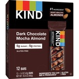 KIND Dark Chocolate Mocha Almond - Cholesterol-free, Low Glycemic, Low Sodium, Gluten-free - 12 / Box