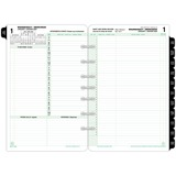 "Day-Timer 2PPD Bilingual Planner Refill Pages - Daily - 1 Year - January 2020 till December 2020 - 7:00 AM to 10:00 PM - 1 Day Double Page Layout - 5 1/2"" x 8 1/2"" - Desk - Paper - Bilingual, To-do List, Printed, Phone Directory, Address Directory, Planni"