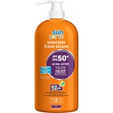 SunZone SPF 50 Sunscreen Lotion - Lotion - 1 L - Pump Bottle - SPF 50+ - Applicable on Body - Sunburn - PABA-free, Paraben-free, Water Resistant, Sweat Proof, Hypoallergenic, Non-comedogenic, UV Resistant - 1 Each