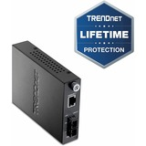 TRENDnet Intelligent 1000Base-T to 1000Base-FX Single Mode Fiber Converter - 1 x RJ-45 , 1 x SC Duplex - 1000Base-T, 1000Base-LX