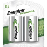 Energizer NiMH e2 Rechargeable D Batteries - For Multipurpose - Battery Rechargeable - D - 2200 mAh - Nickel Metal Hydride (NiMH) - 2 / Pack