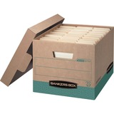 "Bankers Box Recycled R-Kive® - Letter/Legal - Internal Dimensions: 12"" (304.80 mm) Width x 15"" (381 mm) Depth x 10"" (254 mm) Height - External Dimensions: 12.8"" Width x 16.5"" Depth x 10.4"" Height - 800 lb - Media Size Supported: Letter, Legal - Lift-o"