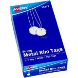 "Avery® Metal Rim Tags, Strung, 1-1/4"" Diameter, 500 Tags (14313)"
