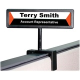 """Advantus People Pointer Cubicle Sign - 1 Each - 9"""" (228.60 mm) Width x 2.50"""" (63.50 mm) Height - Black"""