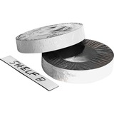 """Zeus Magnetic Labeling Tape - 1"""" (25.4 mm) Width x 16.7 yd (15.2 m) Length - Reusable, Repositionable, Writable Surface - White"""