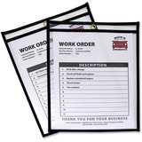 C-Line Stitched Vinyl Shop Ticket Holders - Vinyl - 25 / Box - Black, Clear