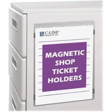 C-Line Magnetic Shop Ticket Holders - Vinyl - 15 / Box - Clear