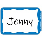 "C-Line Self-adhesive Color Border Name Badges - Removable Adhesive - 3 1/2"" Width x 2 1/4"" Length - Rectangle - Blue - 100 / Box"