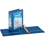 "Cardinal Xtralife ClearVue Locking Slant-D Binders - 2"" Binder Capacity - Letter - 8 1/2"" x 11"" Sheet Size - 540 Sheet Capacity - 2 1/2"" Spine Width - 3 x D-Ring Fastener(s) - 2 Inside Front & Back Pocket(s) - Polyolefin - Blue - 567 g - Recycled - 1 Each"