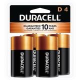 Duracell Coppertop Alkaline D Battery - MN1300 - For Multipurpose - D - 1.5 V DC - Alkaline - 4 / Pack