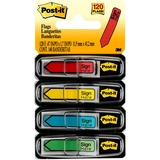 """Post-it® Message Flags, 1/2"""", """"Sign Here"""", Assorted Colors"""