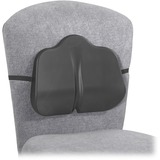 "Safco SoftSpot Low Profile Backrest - Non-abrasive, Anti-static, Washable, Elastic Strap - 14"" (355.60 mm) x 2.50"" (63.50 mm) x 11"" (279.40 mm) - Black"