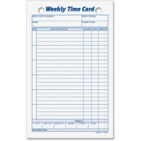 """TOPS Weekly Handwritten Time Cards - Ring Binder - 4 1/4"""" x 6 3/4"""" Sheet Size - 2 x Holes - 100 / Pack"""