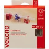 VELCRO® Brand Sticky Back Tape, 15ft x 3/4in Roll, White
