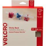 VELCRO® Brand Sticky Back Tape, 30ft x 3/4in Roll, White