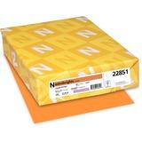 "Astrobrights Inkjet, Laser Print Printable Multipurpose Card - Letter - 8 1/2"" x 11"" - 65 lb Basis Weight - Smooth - 250 / Pack - Cosmic Orange"