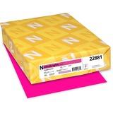 "Astrobrights Inkjet, Laser Print Printable Multipurpose Card - Letter - 8 1/2"" x 11"" - 65 lb Basis Weight - Smooth - 250 / Pack - Fireball Fuchsia"