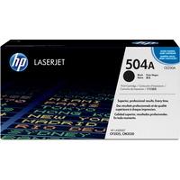 Hewlett Packard CE250A Black Toner Cartridge for HP Color LJ CM3530 MFP/ CP3525 (CE250A ,HP 504A) (5,000 Yield)