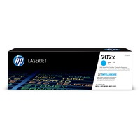 Hewlett Packard CF501X High Yield Cyan Toner Cartridge for HP Color LaserJet Pro MFP M281FDW, M254dw (HP 202X, CF501X) (2,500 Yield)