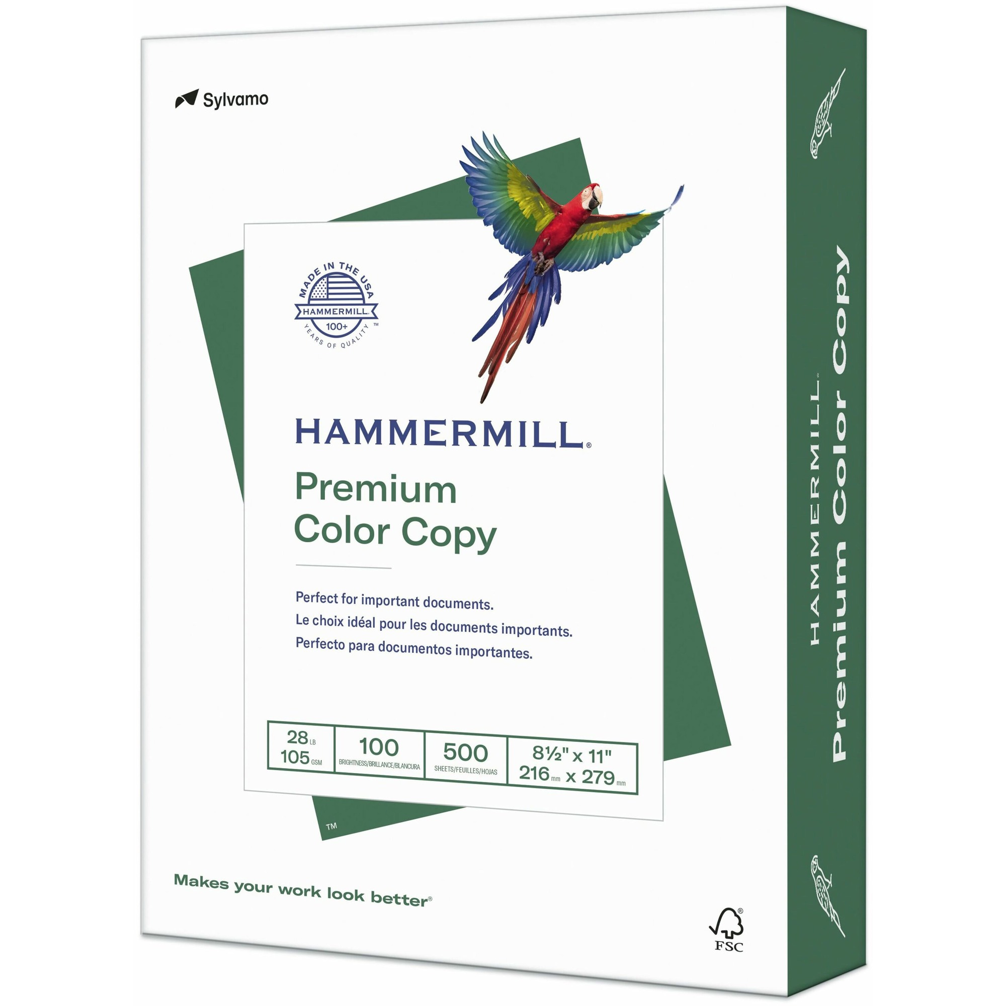 International Paper Company Hammermill Color Copy Paper - Letter - 8 1/2 X  11 - 28 Lb Basis Weight - 100 Brightness - White