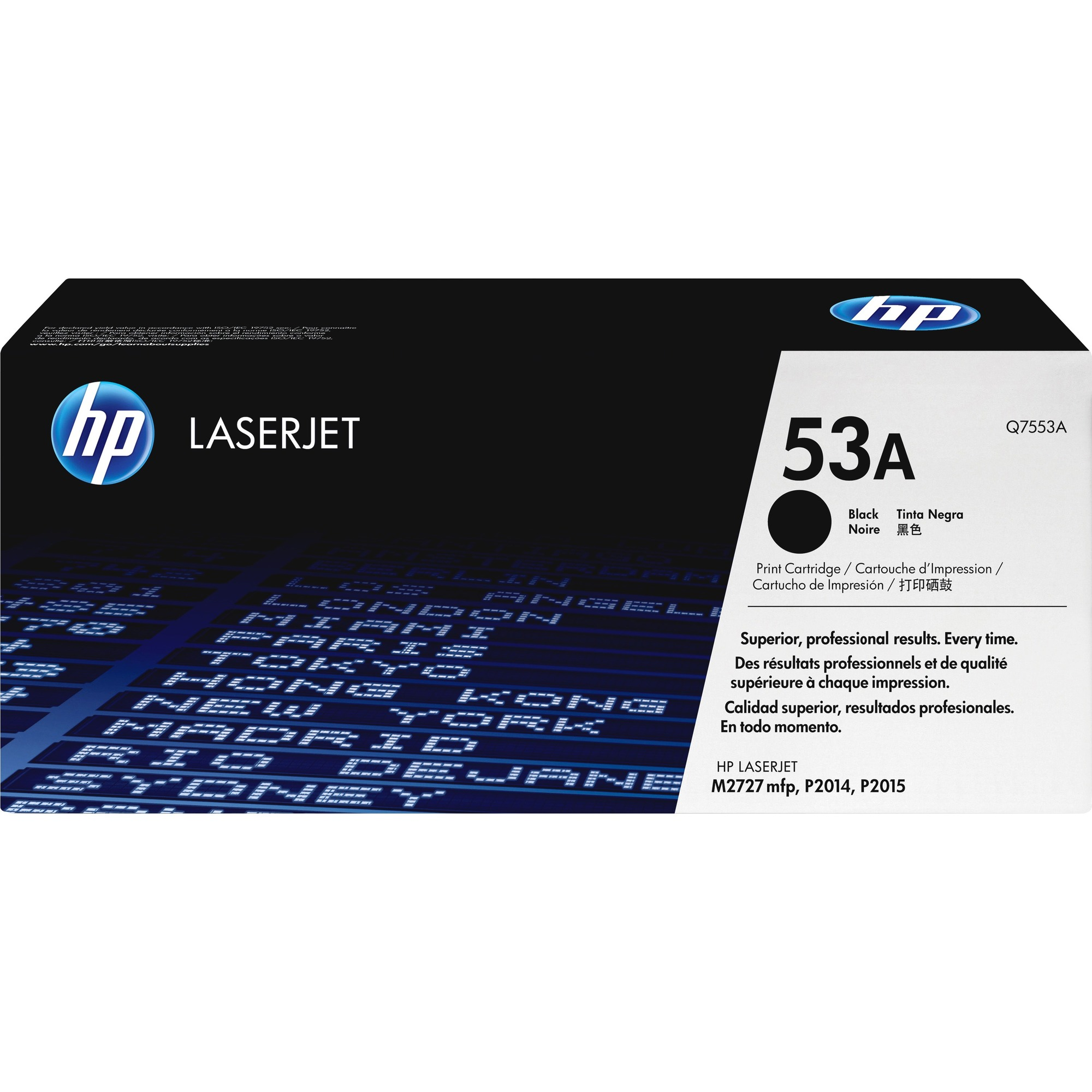 HP 53A Toner Cartridge - Black - Laser - 3000 Page - 1 Each